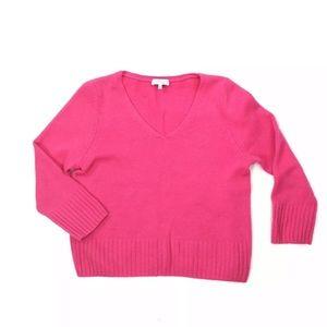 Aritzia BABATON Pink Wool Cashmere Sweater